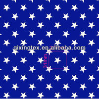 blue with white stars fabric