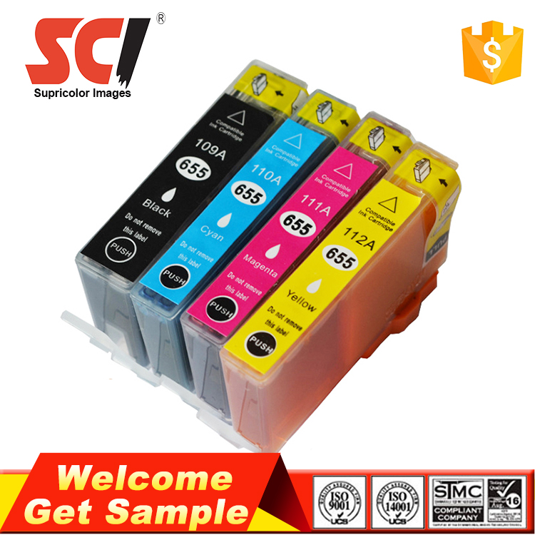Wholesale 655 Compatible ink cartridge for hp 4615 printer