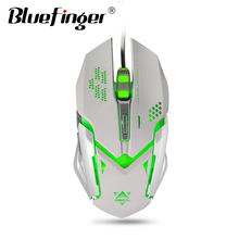 Cool LED backlit USB wired alloy gaming keyboard and mouse combo
