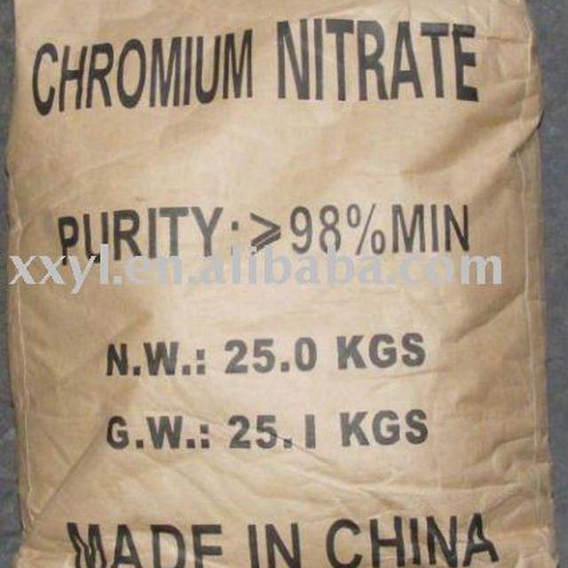 98% Chromium Nitrate nonahydrate ( CAS No: 7789-02-8 )