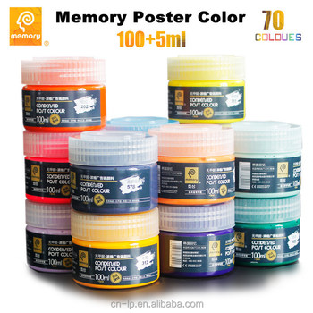 Memory most popular bottle poster color tempera paint in 100ml bottle or OEM package