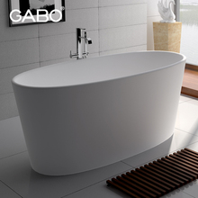 China White Oval Freestanding Medical Bathtubs