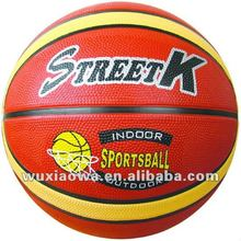 Rubber training basketball / special basketball / good sale toys(SRB001)