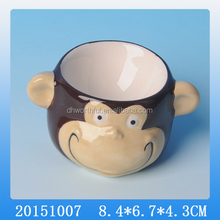 2016 High quality cute monkey ceramic egg cup
