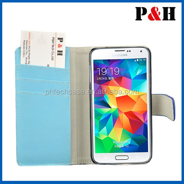 Luxury Retro PU Leather Flip Case For Samsung Galaxy S5 Cellphone Sleeve Wallet Stand Card Holder Cover For Galaxy S5