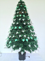 Optic Fiber Leaf Decoration High Classic Christmas Tree, Battery ChristmasTree With Pot
