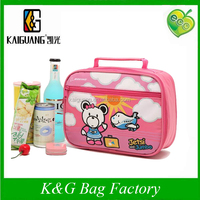 Custom Printed School Lunch Cooler Bag For Kids With Shoulder Strap