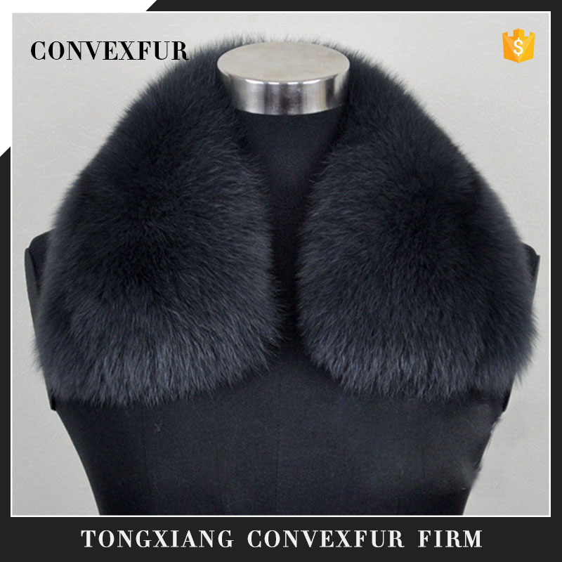 Dyed solid color soft fox fur collar whole fox skin for colthes decoration