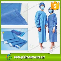 light blue color 35/40/60gsm sms/smms nonwoven fabric for medical use, non woven sms fabirc for surgical gowns,operation cap