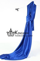 Royal Blue Color Ice Silk Fabric \ Decoration Fabric