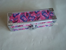Pencil case maker,aluminum pencil case with velvet and elastic band inner,girly pencil case