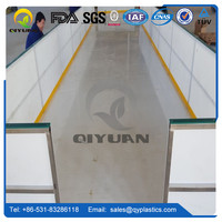 synthetic ice skating rinks, white plastic uhmwpe ice board, Slide low friction Synthetic Plastic HDPE Roller Skating Board/Plat