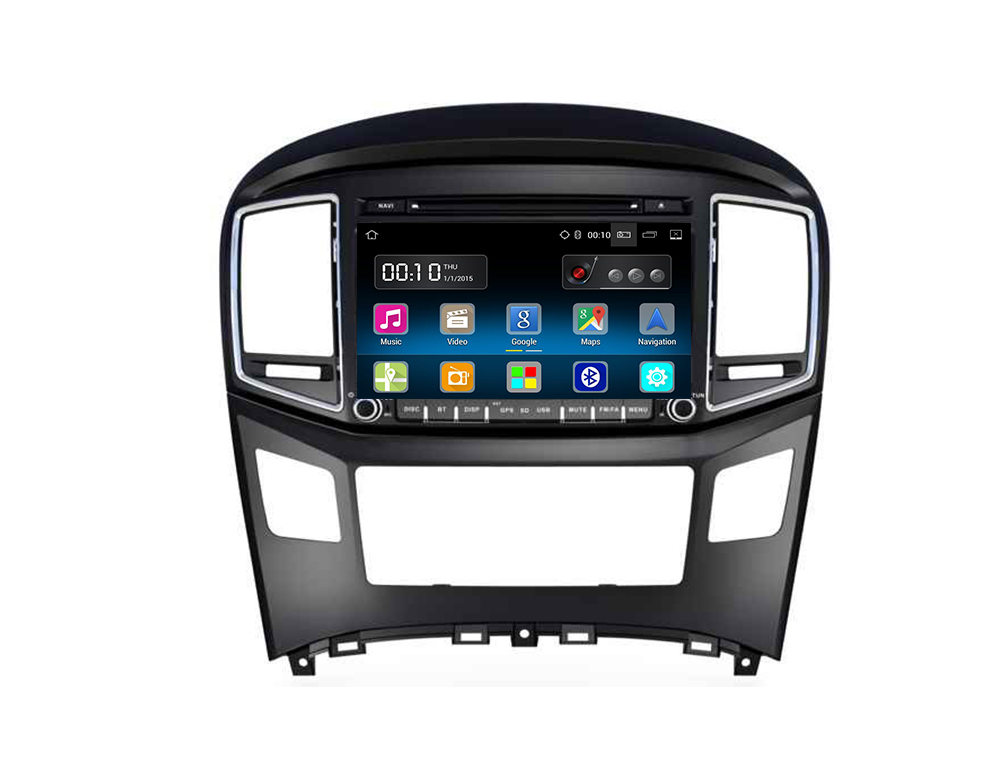 8&quot; Android 7.1 Quad Core Car DVD Player Double Din 16GB With CE FCC Certificate For Hyundai <strong>H1</strong> 2016 with canbus wifi