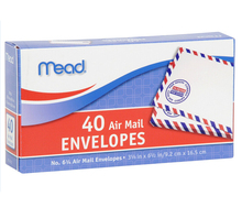 #6 3/4 Air Mail Envelopes, 40 Count (74212) Envelope factory Self-seal Security Printing