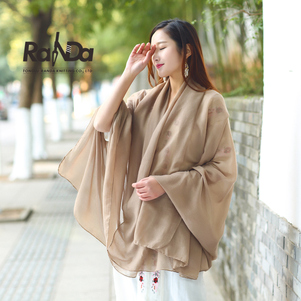 High quality nice soft promotional cotton printed shawl
