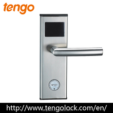 Silver Top quality Electronic RFID Keyless Hotel Smart Card Door Lock with access control software