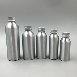 hot sale 30ml 50ml 100ml 120ml 150ml 250ml 500ml small empty aluminum metal bottle for essential oil manufacturer