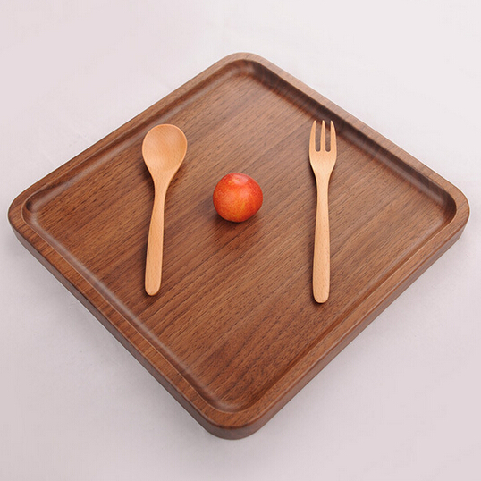 black walnut wood Serving Tray Platters for Red Wine/Cocktail/Meals/Fruit Serving tray