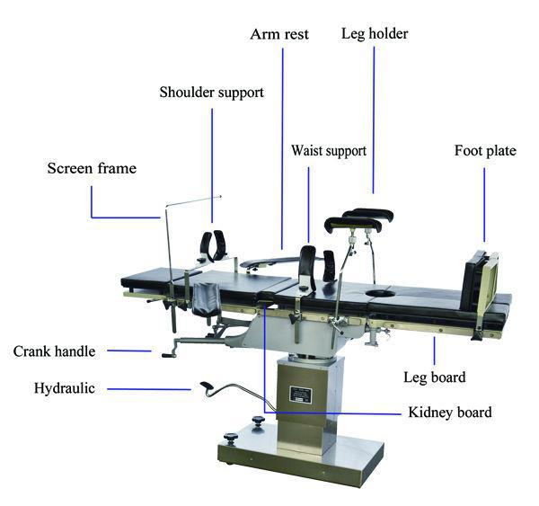 YSOT-3008C hydraulic operation surgical equipment operating table