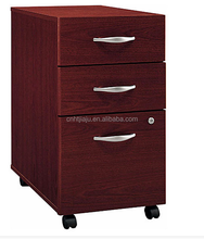 Wooden office furniture file cabinet/3 drawer file cabinet