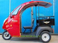 passenger electric tricycle 3 wheeler tuk tuk with roof