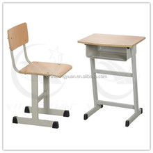 Wooden and metal classroom desk and chair school set furntirue