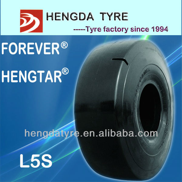 smooth tyre L5S 12.00-24 with ISO9001,CCC,DOT