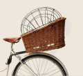 handwoven wicker bike basket dog carrier