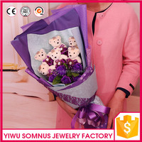 Valentine's day for girl friend rose flower doll bouquet