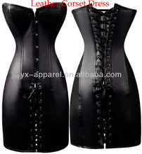 boned black dress corset lingerie