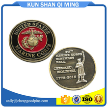 2016 very cheap challenge coins enamel coin factory no MOQ free sample artwork