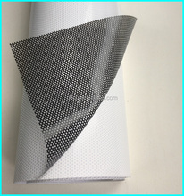 wide format outdoor pvc car wrap self-adhesive one way vision eco solvent perforated vinyl