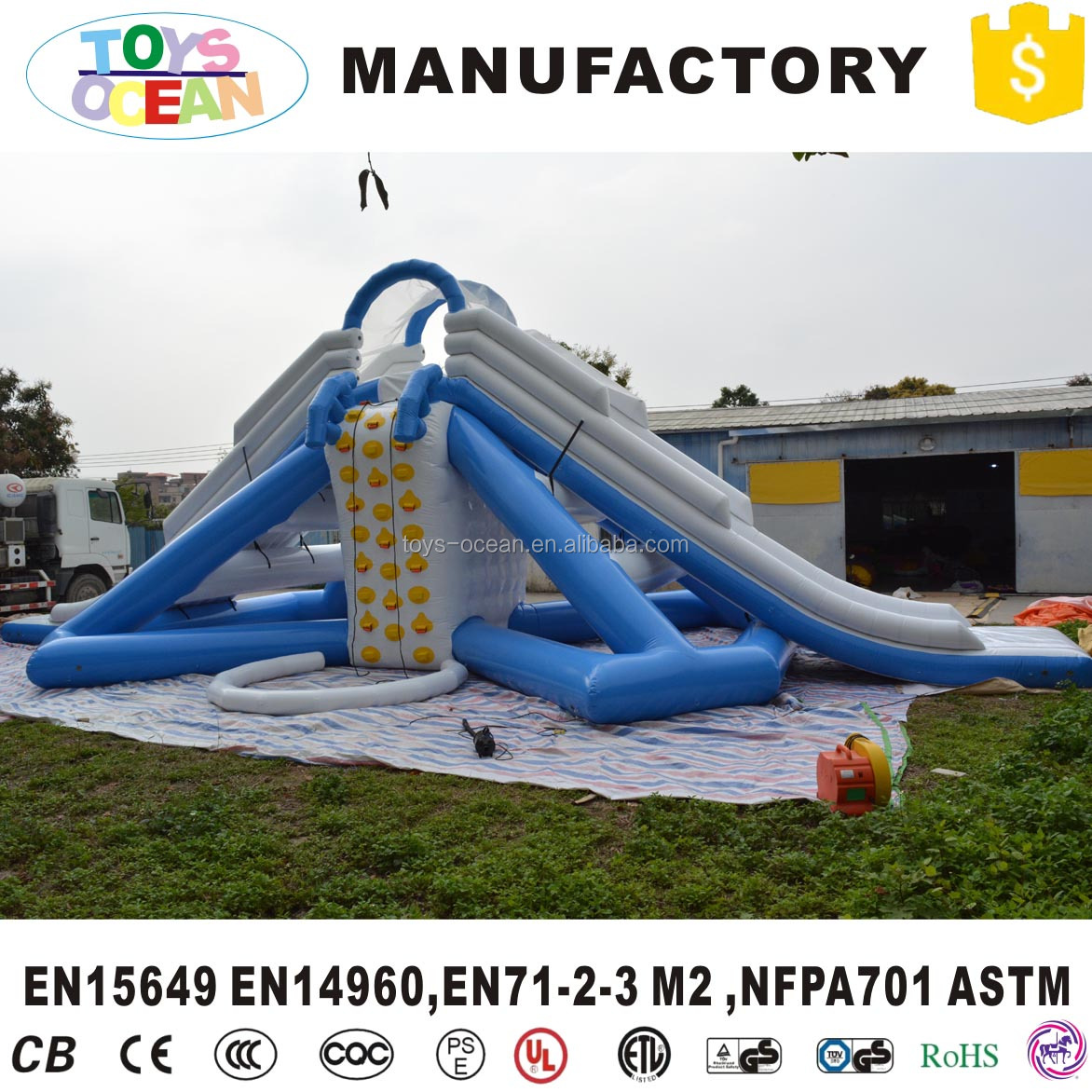 Airtight Inflatable floating water park water slide for adult and kids