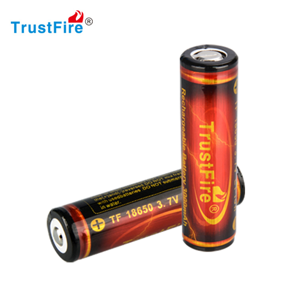 Power safe backup battery TrustFire best 18650 li ion battery, military high quality deep rechargeable 3.7v lithium ion battery