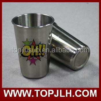 18oz Silver Stainless Steel Cone Mug