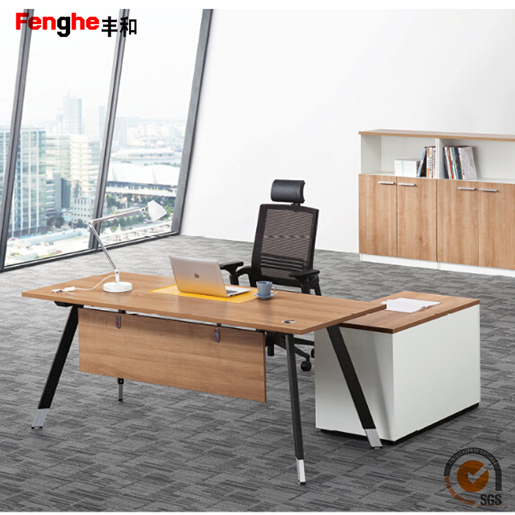 Foshan Shunde Office Furniture Modern Style MDF Melamine Office Table