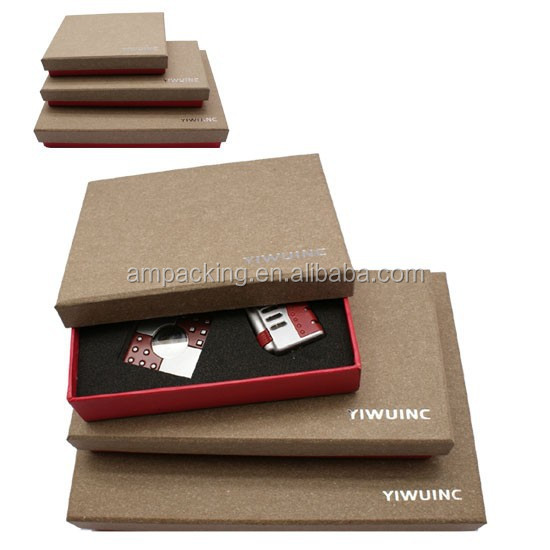 high quality custom set up special paper luxury packaging lighter box