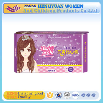 Breathable Printed Feature Winged Shape and Night use disposable sanitary napkin in bulk