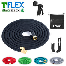 HC 2016 new fabric 50FT blue color water garden expandable hose with spray gun