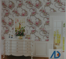Flower walls papers living room TV sofa background wall covering