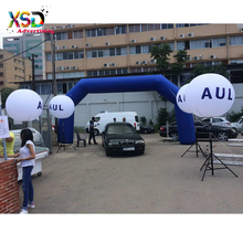 Factory price Party/ event decoration inflatable tripod stand led light ball and advertising arch door