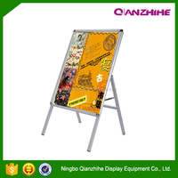 Outdoor activity portable advertising pavement sign mental display board