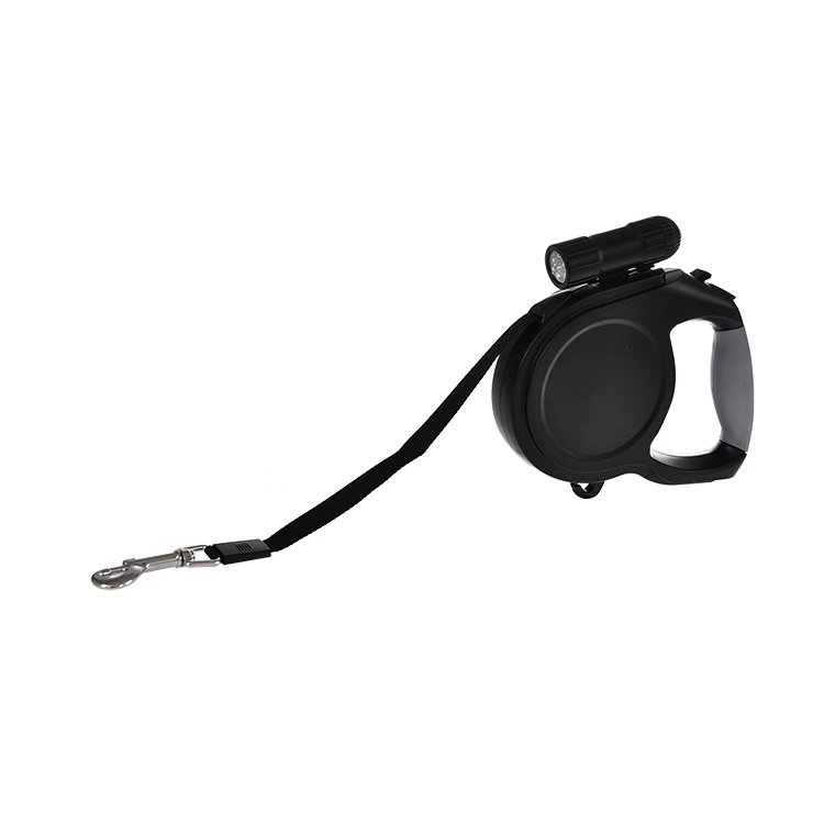 Smart waterproof wholesale custom nylon retractable dog leash with led flashing light
