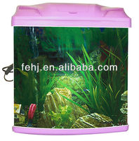 high quality fivestar small curved glass marine fish tank aquarium with LED light