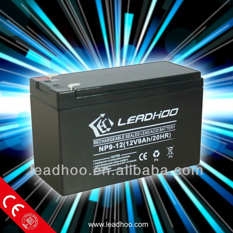 112V9AH 6-DZM-9 Battery sealed Maintenance free rechargeable storage e-bike battery 24 volt battery pack