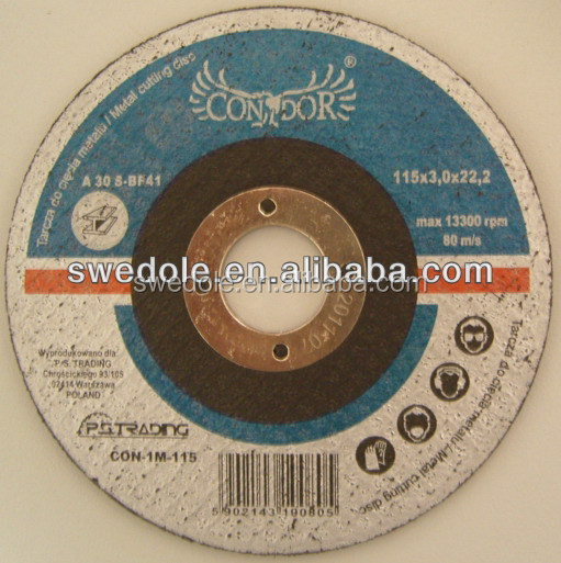 "T27 4"" resin grinding wheel for metal"