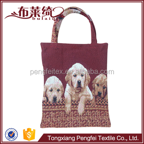 Factory direct dog photo strong hand eco-friendly shopping bag