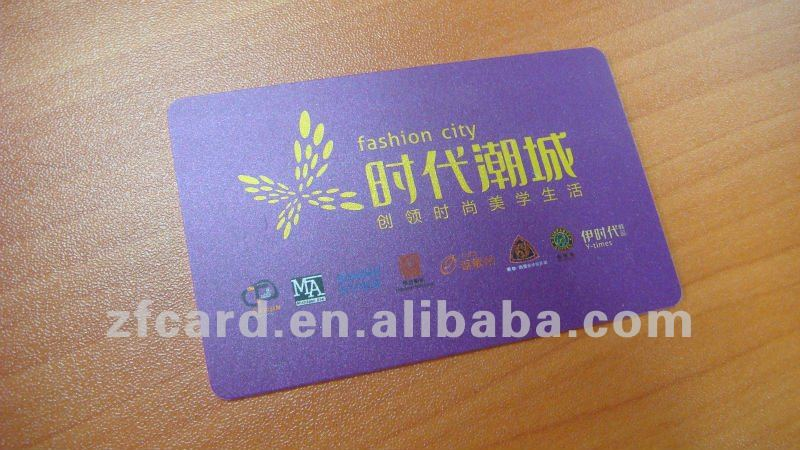 PVC chip card in different chip type for your business