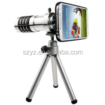 5 in1 12X Zoom Camera Telephoto Lens Phone Telescope 3in1 Clip on Lens Kit Wide Angle Fish Eye Macro for IPhone Samsung