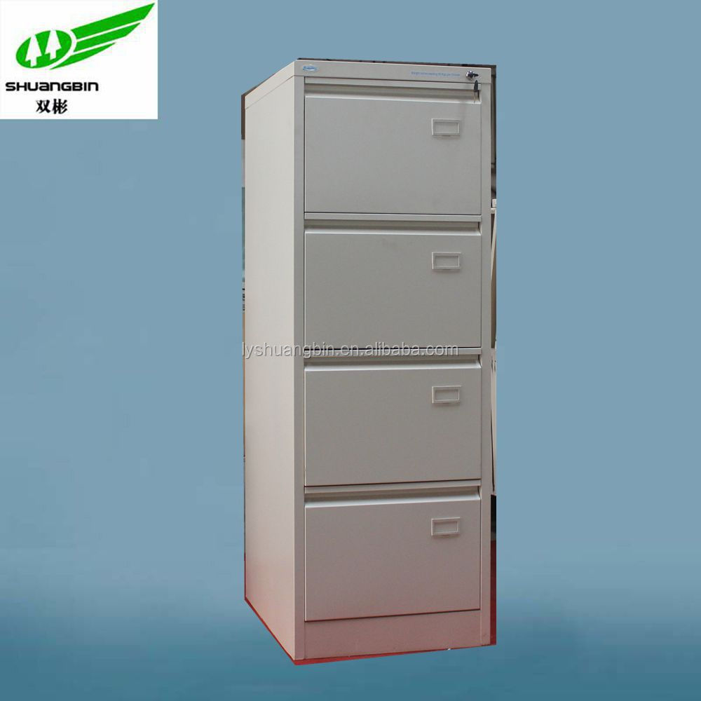 funky 4 drawer metal file cabinet with swan neck design handle